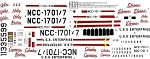 TOS GALILEO SHUTTLECRAFT REPLACEMENT DECAL SET